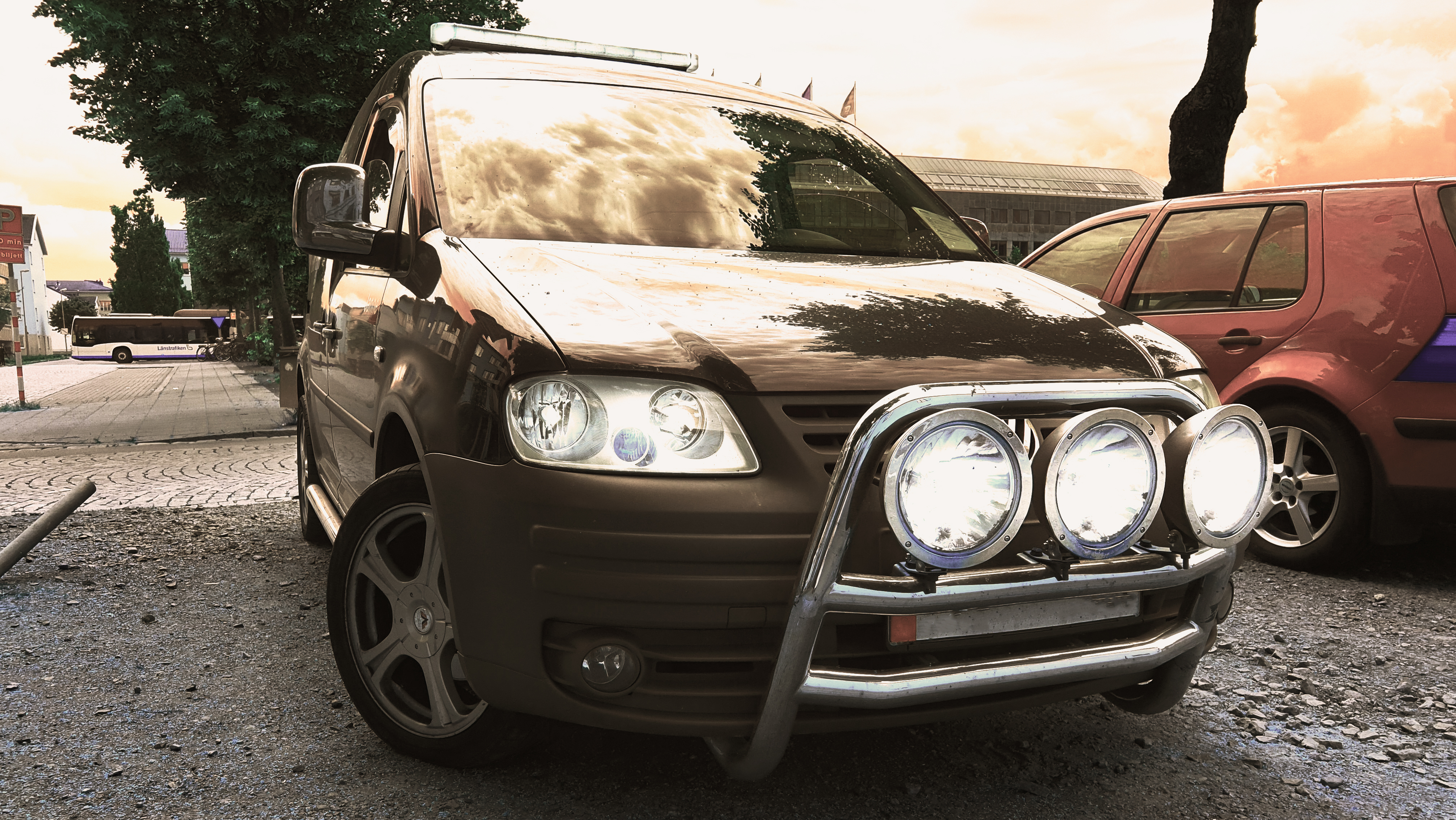 VW caddy stylad light effects