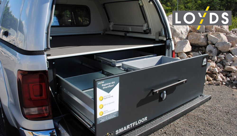 smartfloor bilinredning dubbelgolv till transportbil